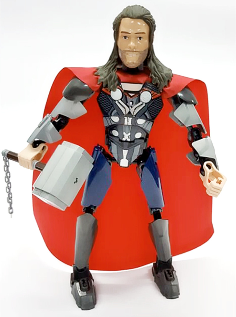 sermoido Building Blocks Lady Thor Super Hero Lady Loki Lady Knight Scarlet Witch Heimdall Collection Children Gift Toys legoing in Blocks from Toys Hobbies