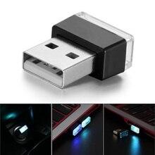 цена на 1pcs Car-Styling USB Atmosphere LED Light Car Accessories For Ford Focus 2 3 4 Mondeo Fusion Kuga Ecosport Fiesta Falcon EDGE
