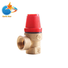 Earth Star Brass Safety Valve Solar Pressure Relief 3Bar 1/2 Thread High Quality
