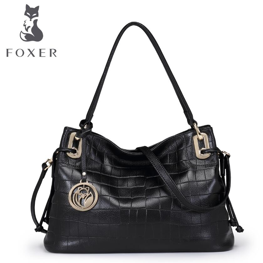 free delivery Cow leather handbag   New Shoulder Messenger Bag Fashion crocodile pattern handbag Leisure Tote women's handbags