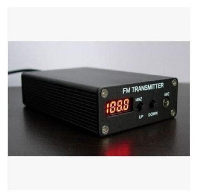 Mini estación de Radio + fuente de alimentación + antena, transmisor MP3 FM PLL estéreo 1mw 87 109MHZ