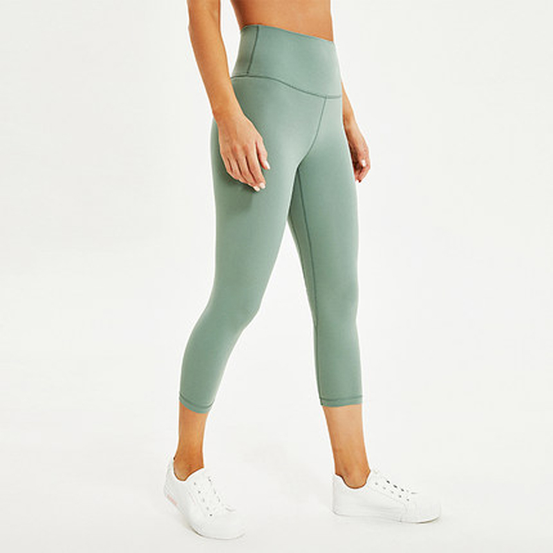Summer Soft Yoga Pants Align naked-feeling Athletic fitness legging High Waist Sport wears light weight Capris in GYM Tights