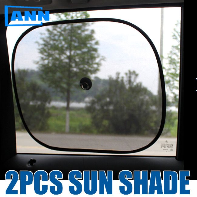 ann 2pcs black side car sun shades rear window sunshades cover mesh visor shield screen interior