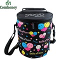 Thermal Cooler Bag Cartoon Stripped Picnic Box Food Storage Bag Waterproof Aluminum Foil Insulated Pouch Lunch Container Ice Bag
