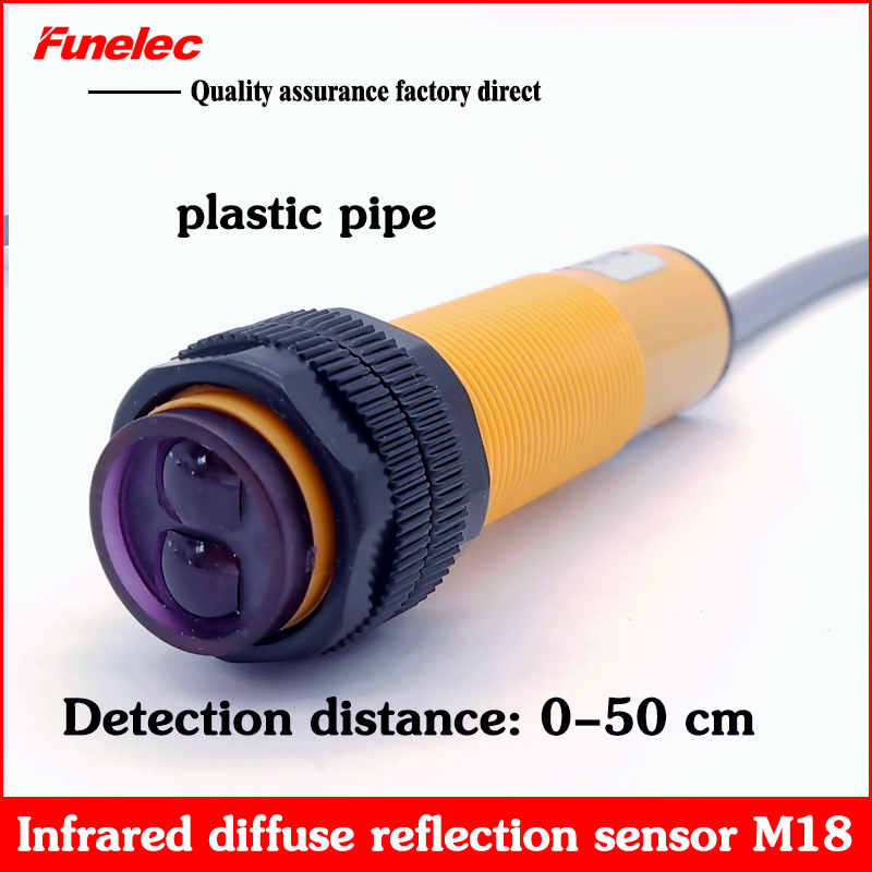Infrared Photoelectric Induction Diffuse Reflection Proximity Switch Three-line NPN NC Normally Closed E3FN-D50C2 Sensor