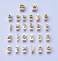 Stock 26 in 1 brass mould for diy logo/name lowercase letters mould height 4.5mm engraving mould for leather craft