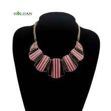 Women bohemian chokers necklaces&pendants Gypsy shell collar ethnic statement wood necklace vintage choker costume jewelry