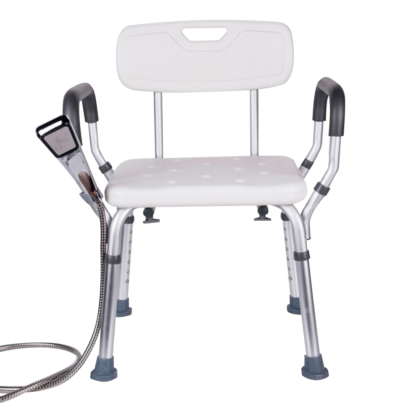 Toilet Seat Chair Elderly Bath Shower Folding Portable Toilet Chairs Shower Chair Elderly Seat Commode for 200kg Bathroom Chair