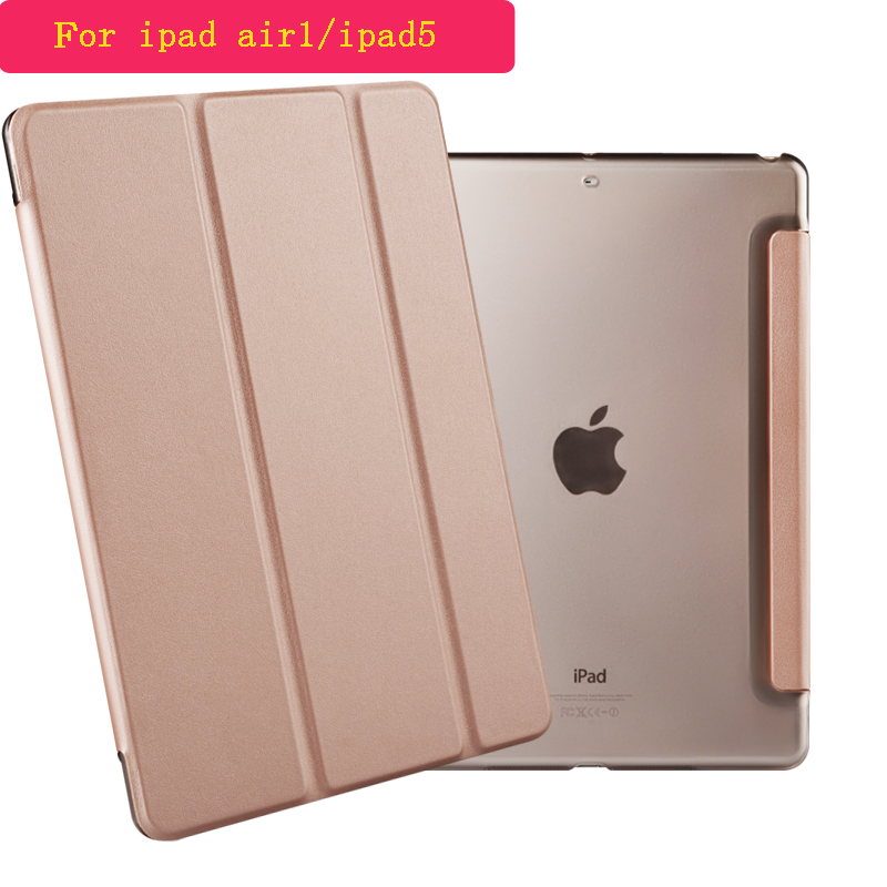 For iPad Air Case Cover Stand Tablet PU Leather Cover For Apple iPad 5/ipad air1 A1474,A1475,A1476 with free screen film+stylus