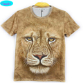 12-18 years boys girls t-shirt new arrive Europe and America style lion printed 3D tshirt big kids tops summer style CT15