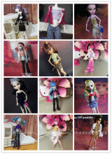 lot casual suit Original clothing dolls dress for Monster Hight 1/6 15pcs=clothes+shoes High baby gift