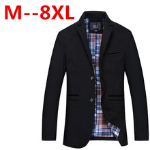 Large size men s casual suit font b jacket b font Men s high quality cotton