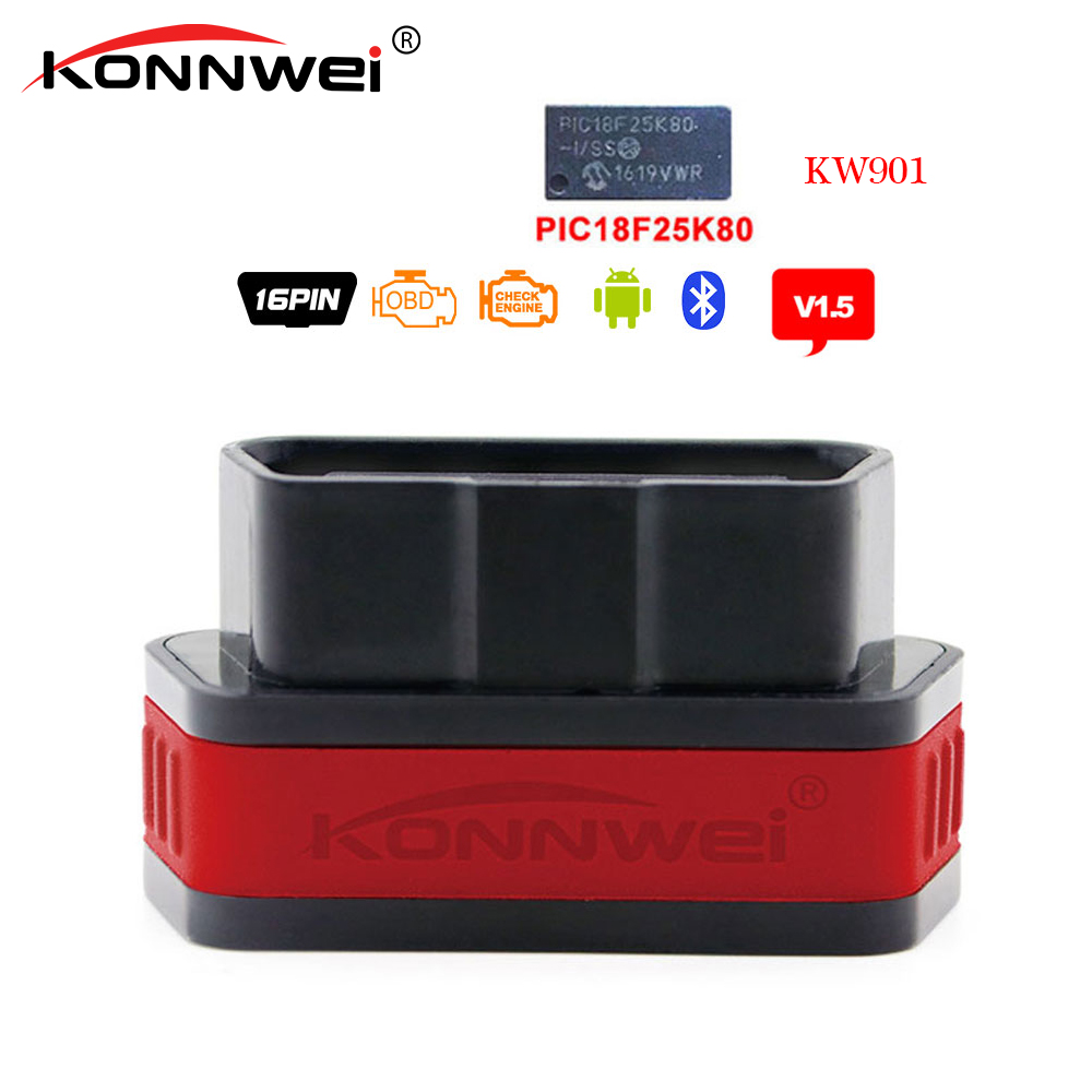 KW902 Bluetooth ODBII ODB2 Diagnostic Code Scanner Reader For PC Android Torque