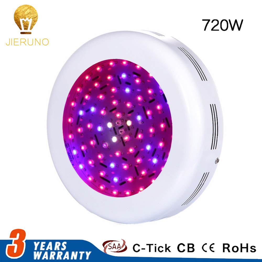 720W Double Chip UFO LED Grow Light Red Blue White UV IR Led Lamp Full Spectrum Grow LED For Indoor Plants With High Yield full spectrum led grow lights 360w led hydroponic lamp for indoor plants growth vegetable greenhouse plants grow light russian