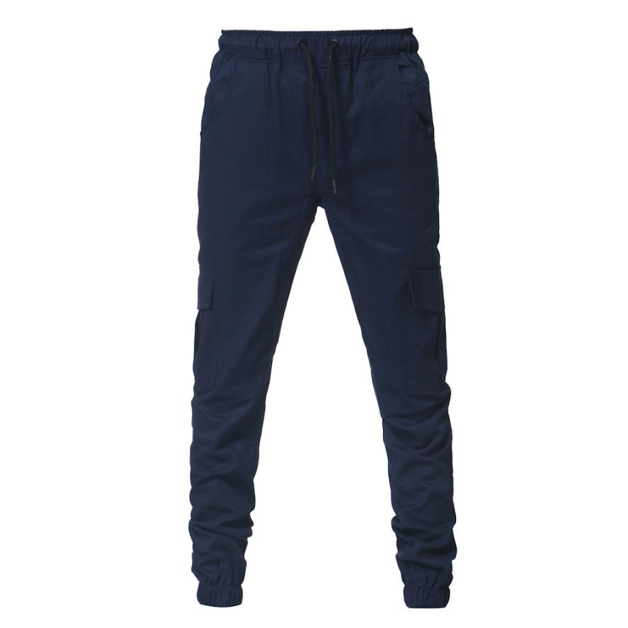 HTB1U5fHCbSYBuNjSspfq6AZCpXad Men's Pants 2018 Fashion Men's Pure Color Bandage Casual Loose Sweatpants Drawstring Pant       july22