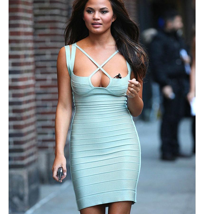 Popular Light Blue Bandage Dress-Buy Cheap Light Blue Bandage ...