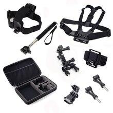 For Gopro Hero 3 4 Kit Chest Head Hand Mount Strap bike mount J hook for Go pro hero Sj4000 Black Edition Sj4000 Accessories