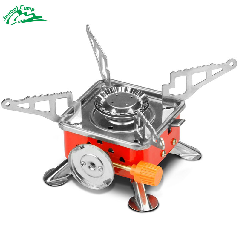Jeebel 3500W Collapsible Gas Stove Portable Butane Camping Stove Folding Outdoor Picnic Cooking Gas Burners Backpacking Furnace windproof bbq portable butane cassette cooker grill outdoor griddle camping stove gas cooking outdoor picnic countertop burners