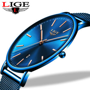 Image 1 - LIGE Womens Watches Top Brand Luxury Waterproof Watch Fashion Ladies Stainless Steel Ultra Thin Casual Wristwatch Quartz Clock