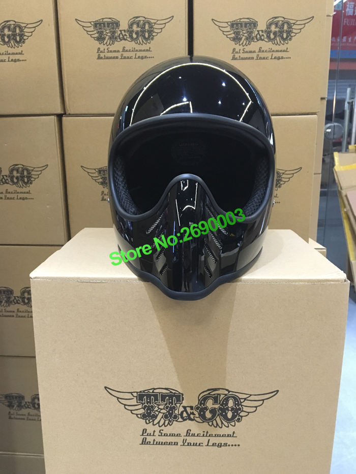 Hot Sale Glossy Black Motorcycle Helmet Genuine Japan TT&CO unisex Retro Motorcycle Helmet Suitable for small Face|black motorcycle helmets|retro motorcycle helmets|motorcycle helmet - title=