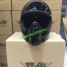Hot Sale Glossy Black Motorcycle Helmet Genuine Japan TT&CO unisex Retro Motorcy