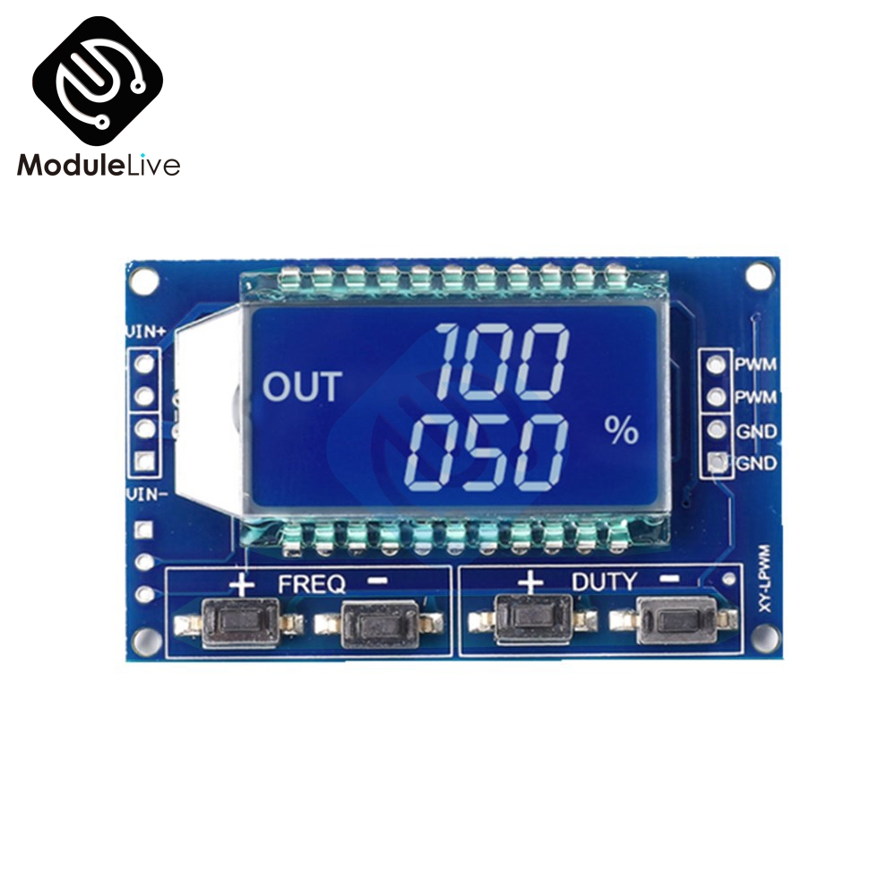 цены Signal Generator PWM Pulse Frequency Duty Cycle Adjustable Module LCD Display 1Hz-150Khz 3.3V-30V PWM Board Module