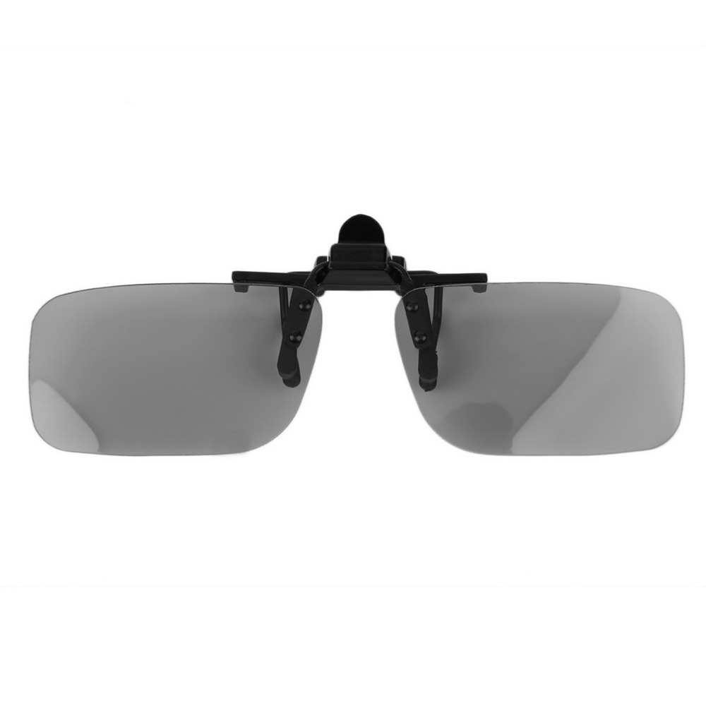 1Pcs Clip On type Passive Circular Polarized 3D Glasses Clip for 3D TV Movie Cinema Professional 3D Light Weight
