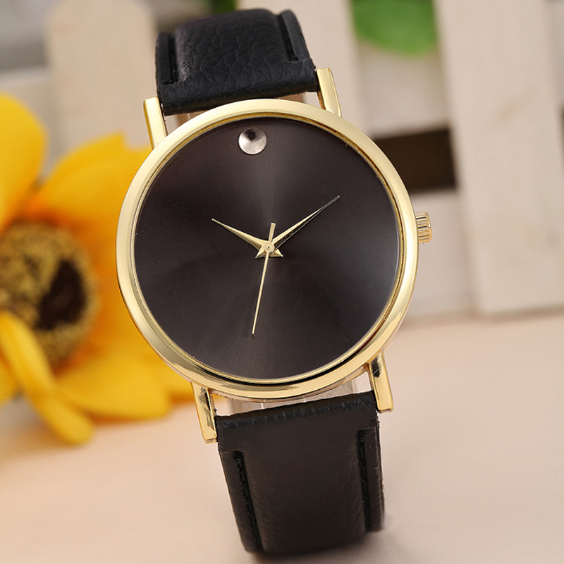 Reloj hombre men women watches retro design pu leather band analog alloy quartz wrist men s
