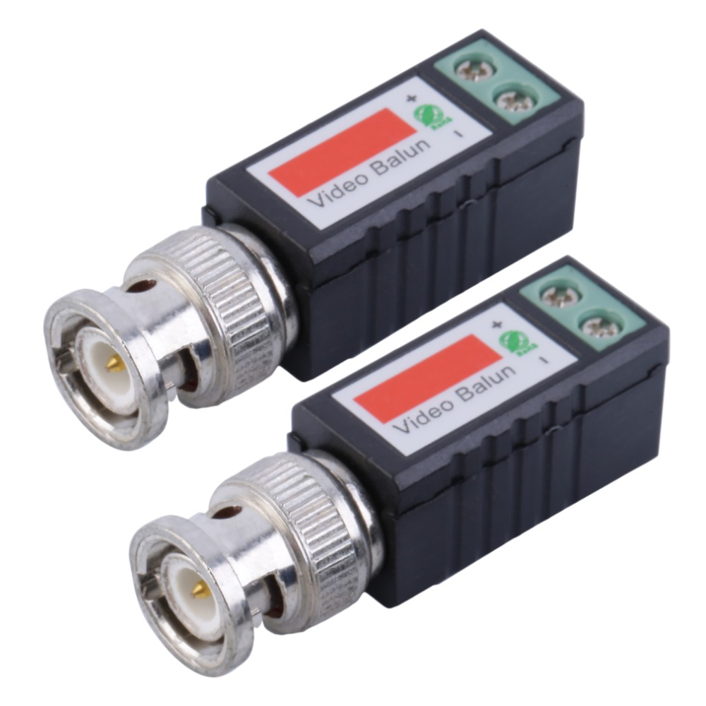 1 Pair Single 1 Channel Passive Video Transceiver BNC Connector Coaxial Adapter For Balun CCTV Camera DVR BNC UTP