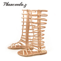 New 2017 Gladiator Sandals Woman Knee High Sandalias Tassels Women Sandal Shoes Woman Sexy Summer Styles