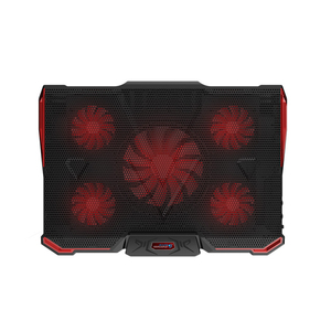Image 2 - Laptop Cooler Cooling Pad For 17.6 inch and below Laptop With Silence 5pcs LED Fans 2PCS USB 2.0 Adjustable Notebook Holder