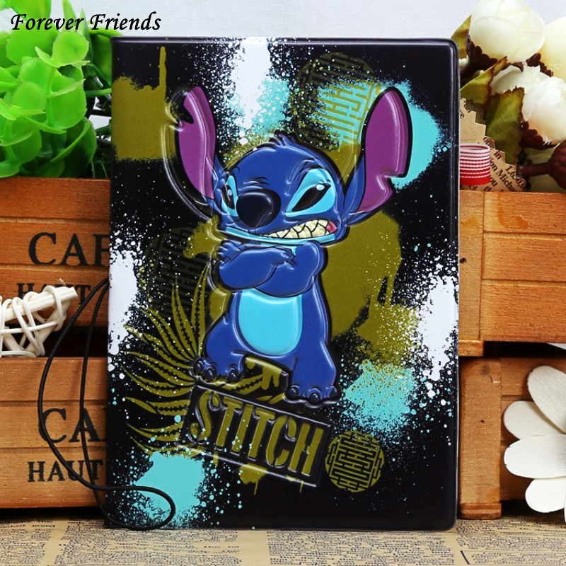 2016 New High quality PVC passport Cover , ID Credit Card Cover business Card - ID Holders for travel -Lilo & Stitch pattern new passport holderstransparent silicone waterproof dirt cover size 9x13 1cm id cards business card credit card bank holders
