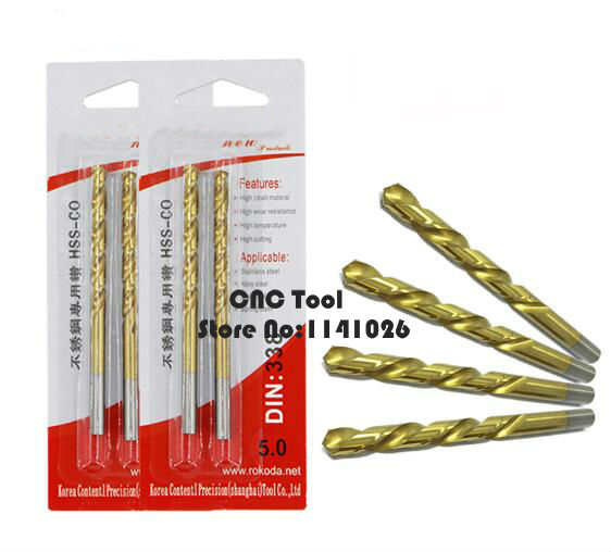 10PCS M42 1.0mm-2.0mm HSS-CO Cobalt Drill Bits,Straight Shank Twist Drill,used In Stainless Steel (1.0mm/1.5mm/1.6/1.8mm/2.0mm)
