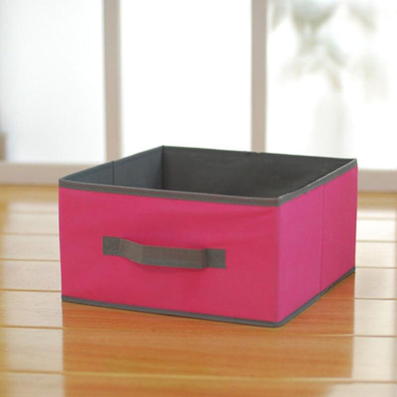 High Quality Clothes Storage Box Fabric Toy Bin Book Organizer Pink Blue Medium Basket 31 5x31 5x16 5cm 2pcs Se