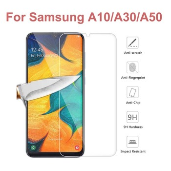 Glass For Samsung Galaxy A30 A50 A10 M10 M20 Tempered Glass Full Cover Screen Protector For Galaxy M 10 M 20 A30 A40 A90 S10E image