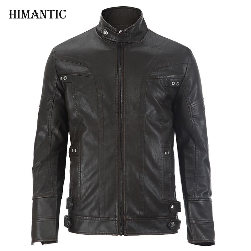 Leather Jacket Men chaqueta Jaqueta Couro Masculino Bomber Leather Jackets Coat Motorcycle Jackets jaqueta de couro masculina