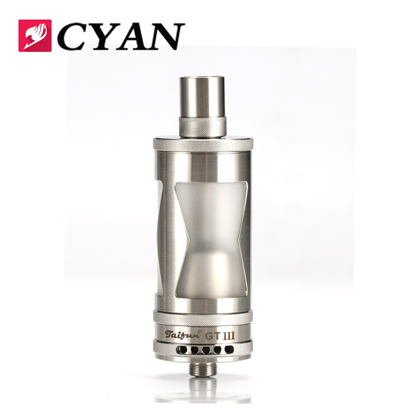 CYAN High Quality GT3 RDA 5ml Atomizer Vaporizer Replaceable Atomizer Vape Tank for 510 Thread e Cigarette Mod vs Taifun GT3 RTA atomizer for reload rta e cigarette 24mm rebuildable tank vaporizer 510 thread