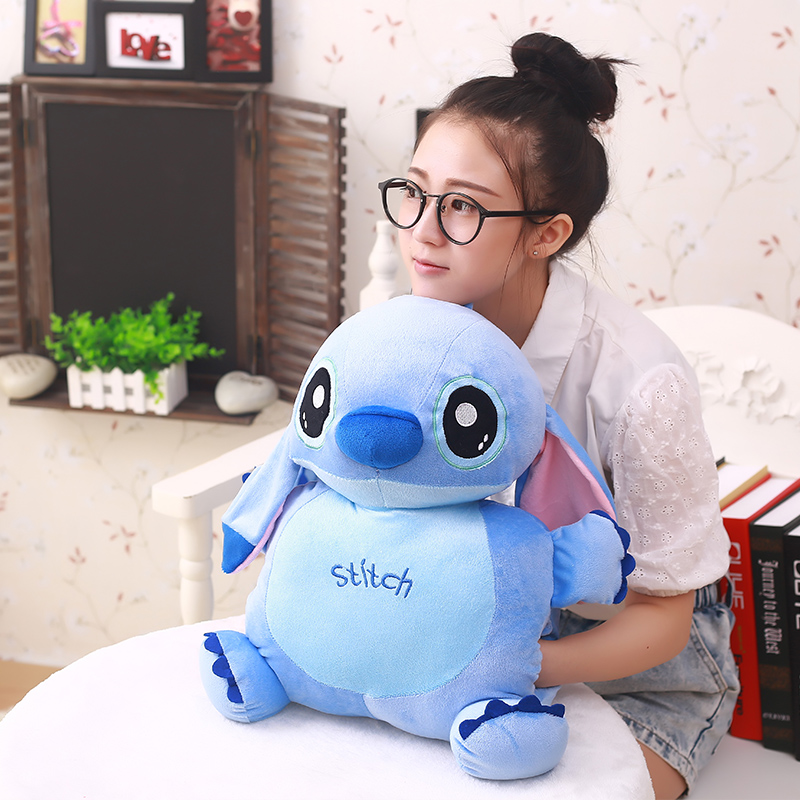 Big belly Classic cartoon Stitch Warm hand pillow plush toy Bedroom decoration 50cmBig belly Classic cartoon Stitch Warm hand pillow plush toy Bedroom decoration 50cm