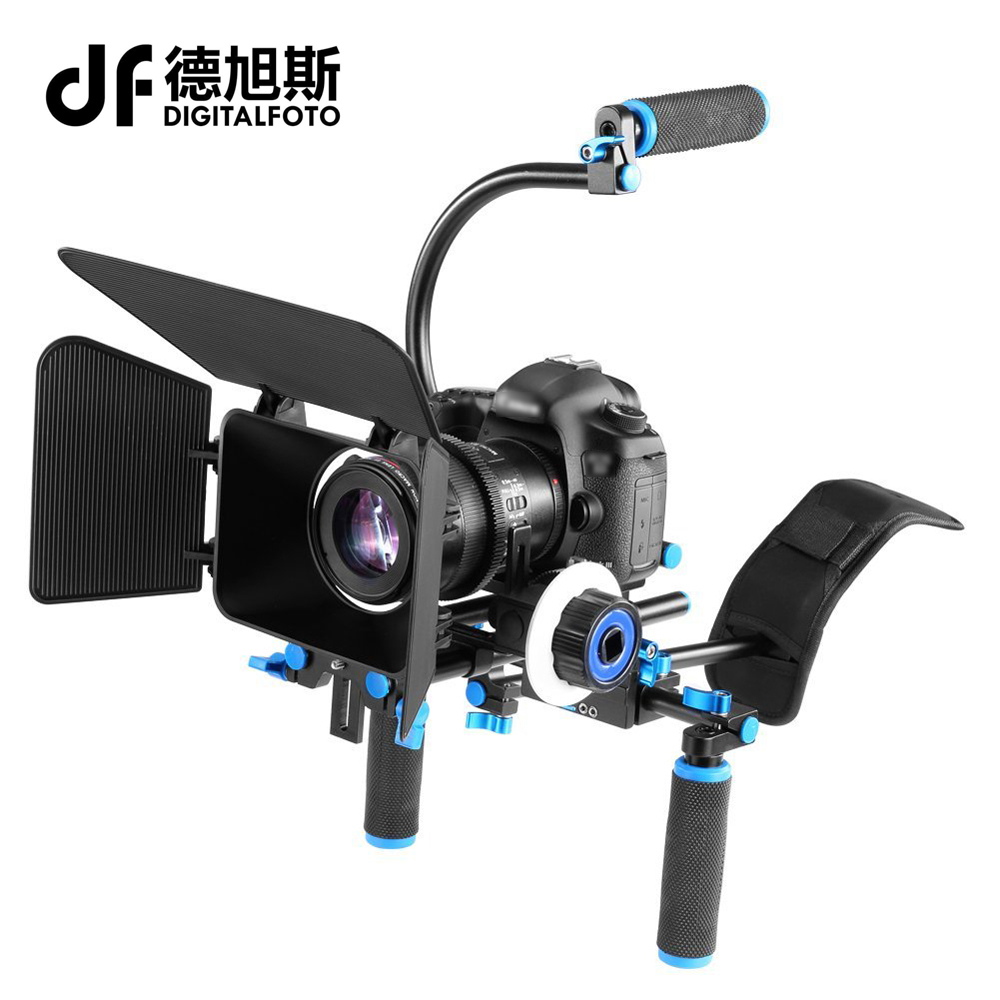 DSLR 5D2 rig video camera dslr rig shoulder mount handle stabilizer steadicam follow focus matte box  Canon Nikon Sony BMCC GH4 dslr rig video stabilizer shoulder mount holder matte box mount c dslr cage for canon nikon sony dslr camera video camcorder
