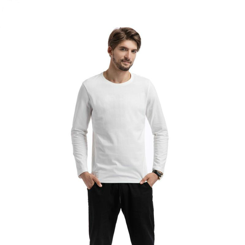 2017 Autumn and winter man T-shirt fashion long sleeved casual o-neck t shirt M-2XL Brand cotton Solid color t shirt New