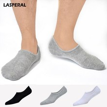 LASPERAL 2018 Casual Solid Brand Men's Sock Autumn Summer Men Cotton Short Socks Male Slippers Size 44-48(China)