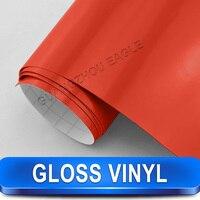 Auto Schoonheid Film Glossy Red Vinyl Wrap 1.52*30 m Kleur Veranderende Sticker Film Voor Voertuig Decoratie Gratis Verzending