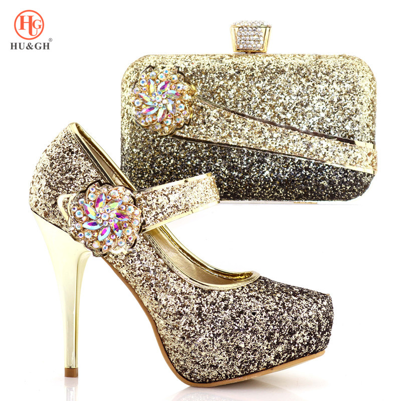 2018 New Fashion Italian Shoes With Matching Bags African High Heel Women Shoes and Bags Set For Prom Party Wedding Shining Shoe free shipping 2017 women s high heels pumps italian shoes and matching bags for wedding party wholesale size37 43 th06 yellow page 8