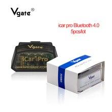 (5 개/몫) vgate icar pro elm 327 블루투스 obd2 스캐너 스캔 프로 자동차 진단 도구 obdii 코드 리더 elm327 v2.1 스캔 도구