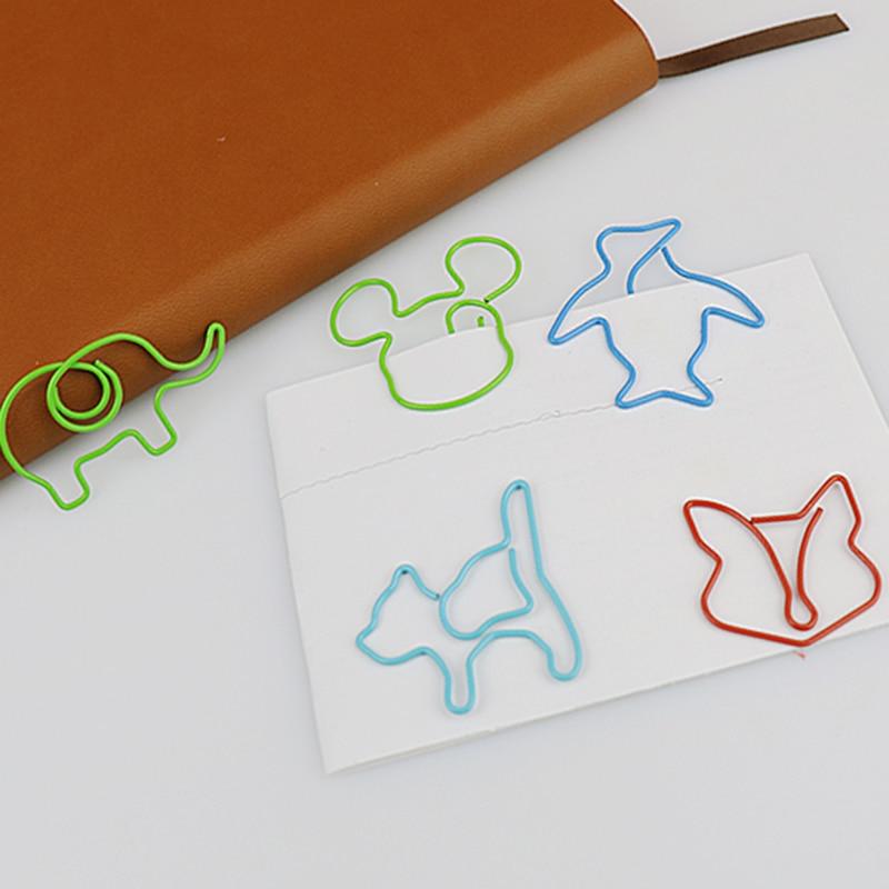 Office & School Supp. ... Office Binding Supplies ... 32799526171 ... 3 ... TUTU 30pcs/lot Cute Cartoon Animal Shape Paper Clips Creative Interesting Bookmark Clip Memo Clip Shaped Paper Clips H0006 ...