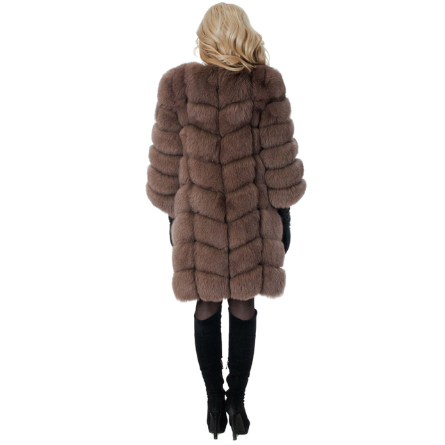 New Medium Long Fake Fox Fur Jacket Women Winter Faux Fox Fur Jackets Woman Warm Artifical Fox Fur Coats Female Ladies Fur 1