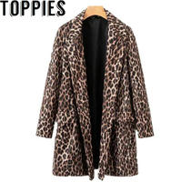 2019 Winter Women Leopard Print Wool Coat abrigos mujer invierno 2019 manteau femme hiver