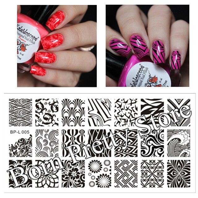 Born Pretty Stamp Plate Bp L005 Wave Texture Patterns Nail Art