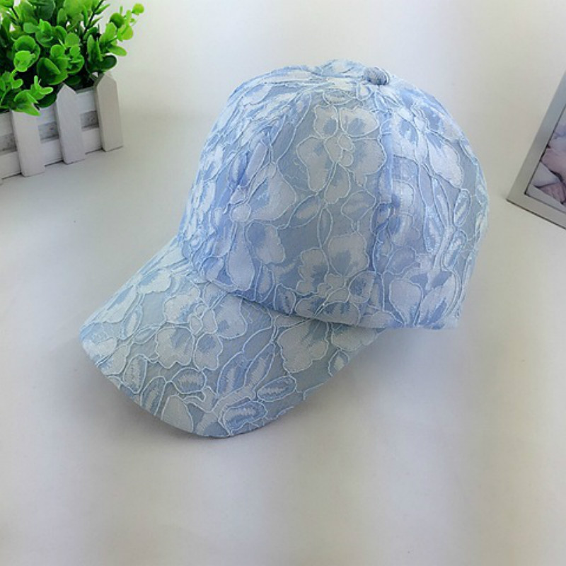 2018 New Women's Baseball Caps Lace Sun Hats Breathable Mesh Hat Gorras Summer Cap for Women Snapback Casquette