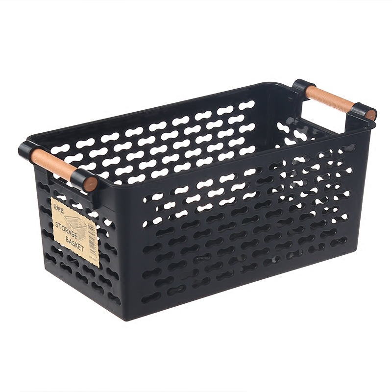 Plastic Desktop Storage Basket Rectangular Bathroom Portable Storage Box  Bath Basket Kitchen Debris Multi Purpose
